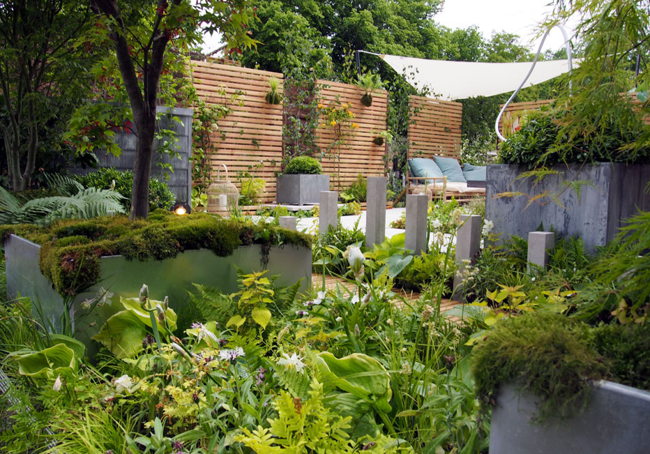 Fontaine & jardinière zinc