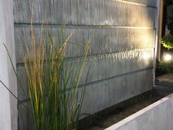 Fontaine Mur d'eau Zinc