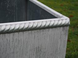 Décor 'Corde arêtier' en zinc