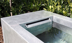 Fontaine Bassin zinc naturel