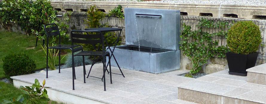 Fontaine zinc - titan naturel