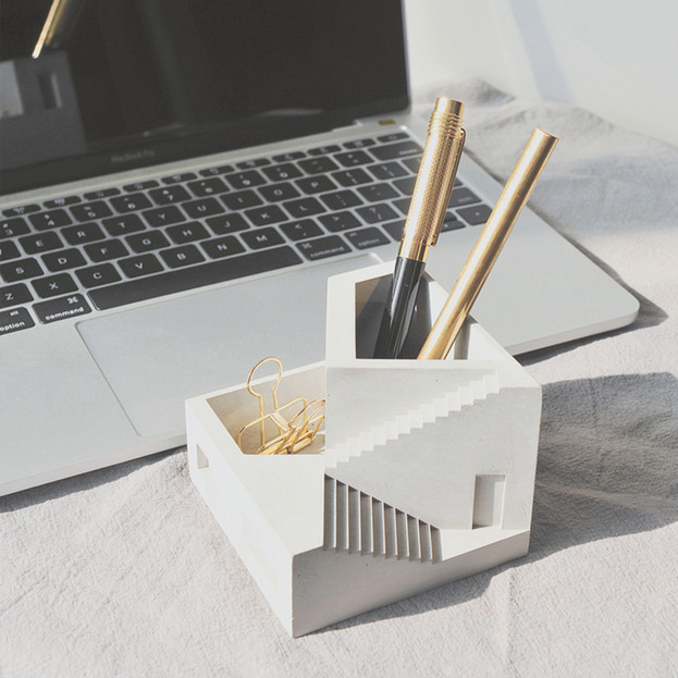 Nordic Designer Concrete Desk Top Organi