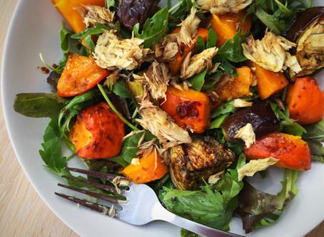 Mackerel and Pumpkin Salad