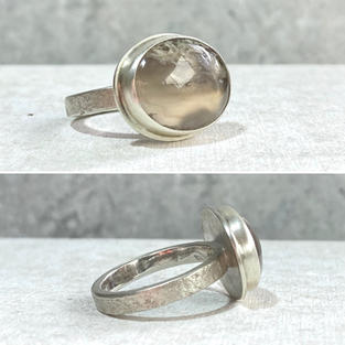 SOLD - MOSS AGATE STATEMENT RING £110 + p&p