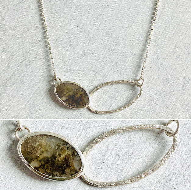 MOSS AGATE ECHO NECKLACE £100 + p&p