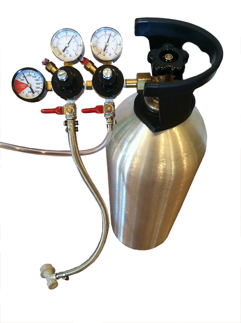 CO2 REGULATOR ASSEMBLED WITH PORTS