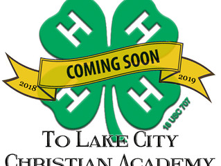 4H is coming to Lake City Christian Academy!