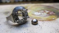 Bague platine, saphir & diamants