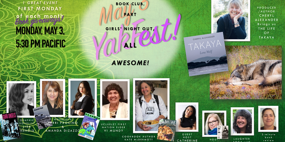 MAY YAKFEST!! Monday, May 3, 5:25 pm. Register here!!