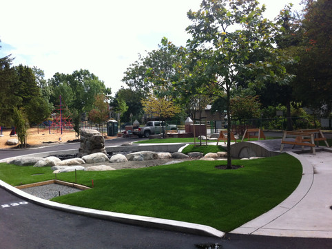 Laura Secord Elementary school playground design Client: Vancouver School District& Parent Advisory Council Part of an overall site design as Project Manager for Jonathan Losee Ltd.