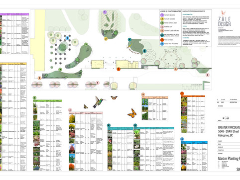 Master Plant List for the Greater Vancouver Zoo - Entrance renovations.