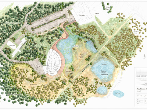 Wetland Park design for the Robert Bateman Gallery at Royal Roads University. Client: Iredale Partnership. Part of the landscape design as Landscape Designer for Jonathan Losee Ltd (not constructed).
