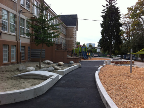 Hastings Elementary school playground design Client: Vancouver School District& Parent Advisory Council. Part of the landscape design as Project Manager for Jonathan Losee Ltd.