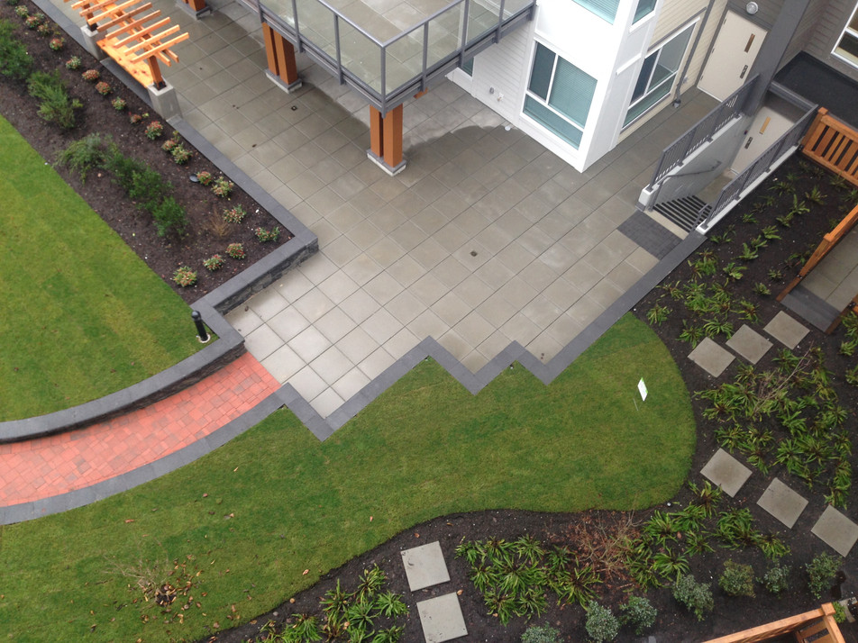Amenity area design at the BC Family Housing townhome. Client: Ledingham McAllister Developments Part of the landscape design as Project Manager for Jonathan Losee Ltd.