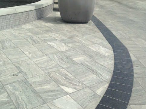 Hardscape design at the Port Royal apartments. Client: Aragon Development Part of the landscape design as Project Manager for Jonathan Losee Ltd.