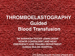 TEG GUIDED TRANSFUSION