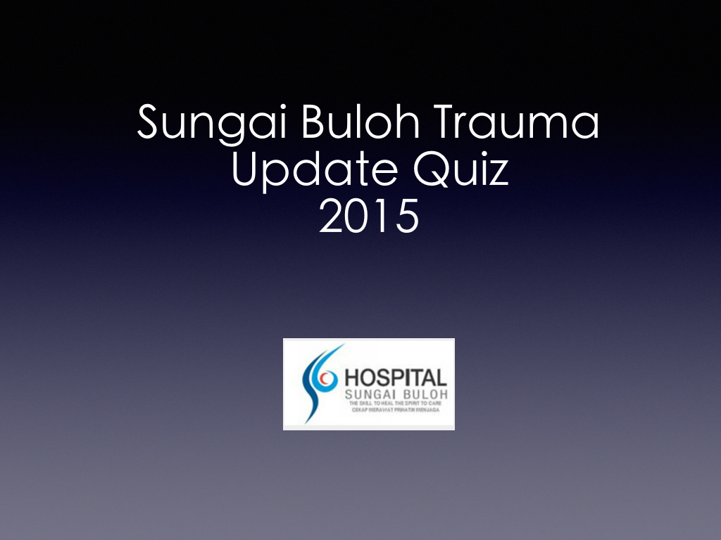 Trauma Update Quiz