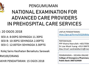 National Examination for Advanced Care Providers in Prehospital Care Services