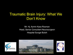 TBI What we don't know