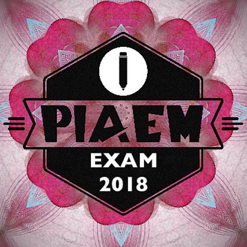 PIAEM EXAM 2018