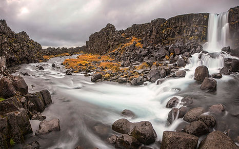Oxarafoss-waterfall-on-river-Fosa-one-of