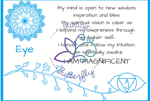 Eye Affirmation Card