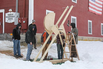 trebuchet at Vermont Woodworking School