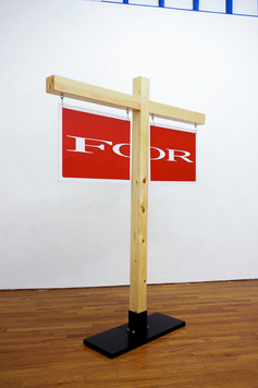 """Sub Division  2019  steel, pine, house paint  6' x 5' x 12""""  $2,750"""