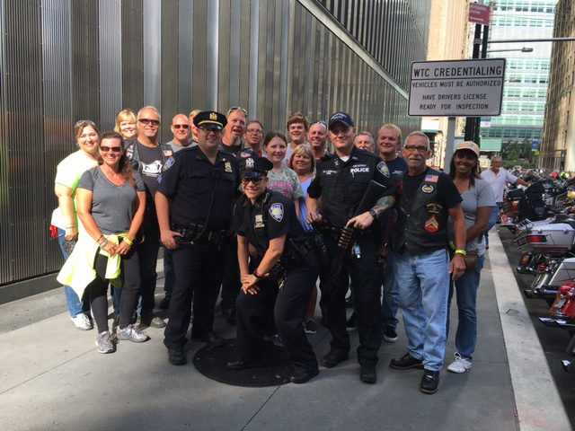 VFW RIDERS AMERICAS 911 RIDE NYC OFFICERS