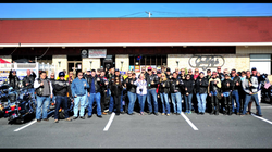 VFW RIDERS MIKE REGAN RIDE GROUP SHOT