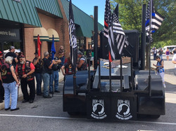 VFW RIDERS BLACKOUT FLAG