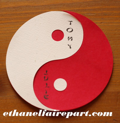 Faire-part mariage ying yang