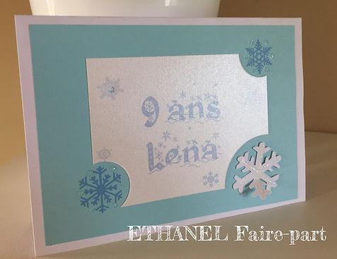 Carte d'invitation anniversaireReine des neiges