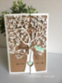 faire-part mariage découpe laser arbre
