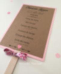 Eventail mariage rétro chic Liberty et papier Kraft
