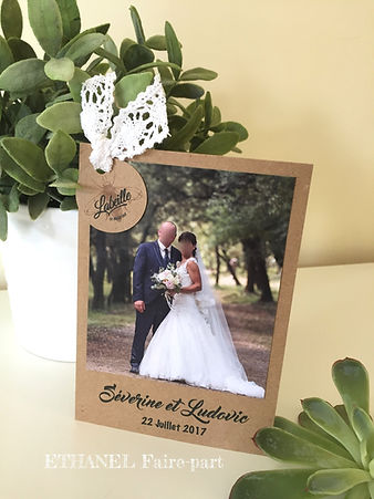 remerciements mariage champêtre