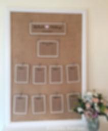 Plan de tables mariage champêtre papier Kraft et toile de jute