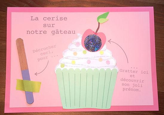 Faire-part naissance Cupcake