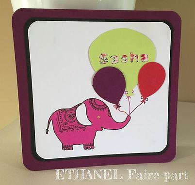 Faire-part naissance Elephant