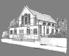 Church line sketch cut 2 small 3.2 cm.pn