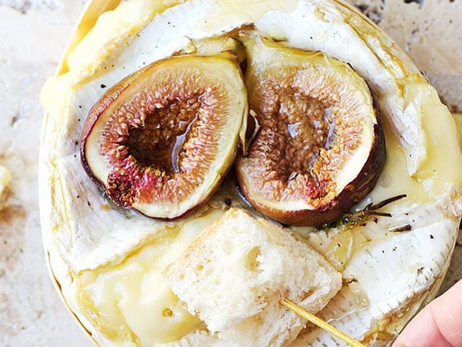 Baked Brie Fondue with Roasted Figs and Honey