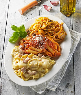 83705624-three-pasta-dishes-on-an-oval-p