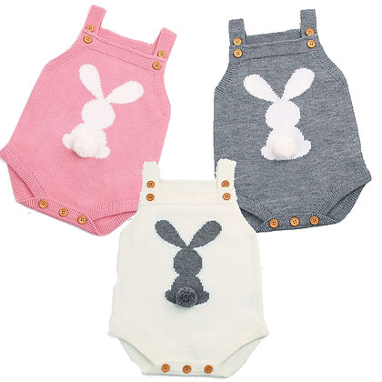 Knitted Bunny Playsuit