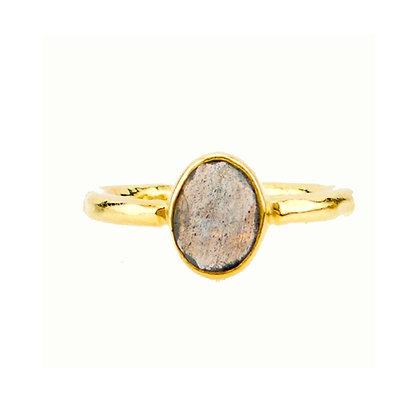 Robindira Unsworth Gold Labrodite Stacking Ring