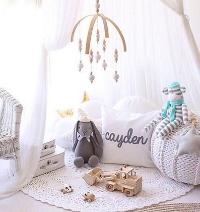 Wooden Crib Mobile - 6 Colours