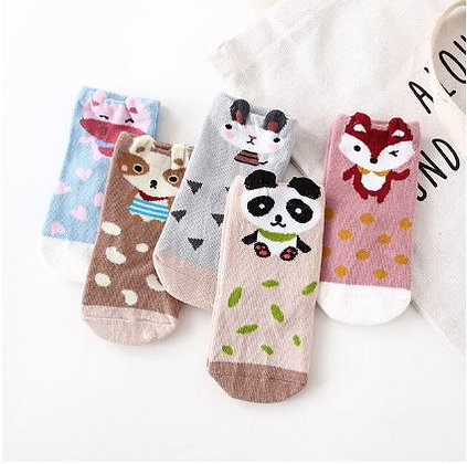Animal Socks Multi x5 pairs