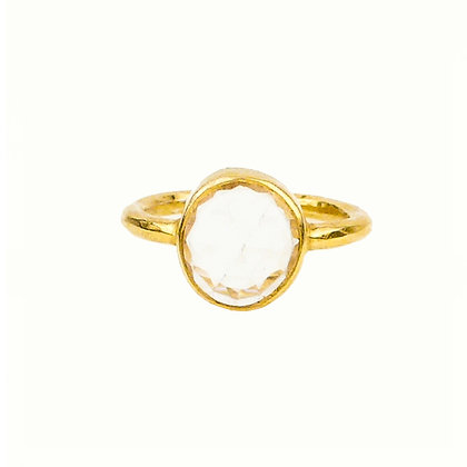 Robindira Unsworth Gold Quartz Stacking Ring