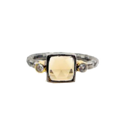 Robindira Unsworth Gold Blue Topaz Stacking Ring