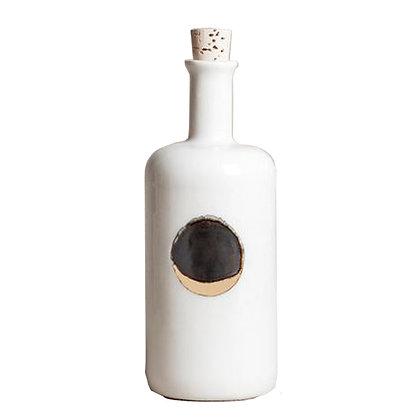 Waxing Moon Bottle in Metallic White