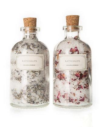 Mullein & Sparrow - Rose & Lavender Bath Salt Set